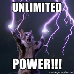 Unlimited power - loot drop table